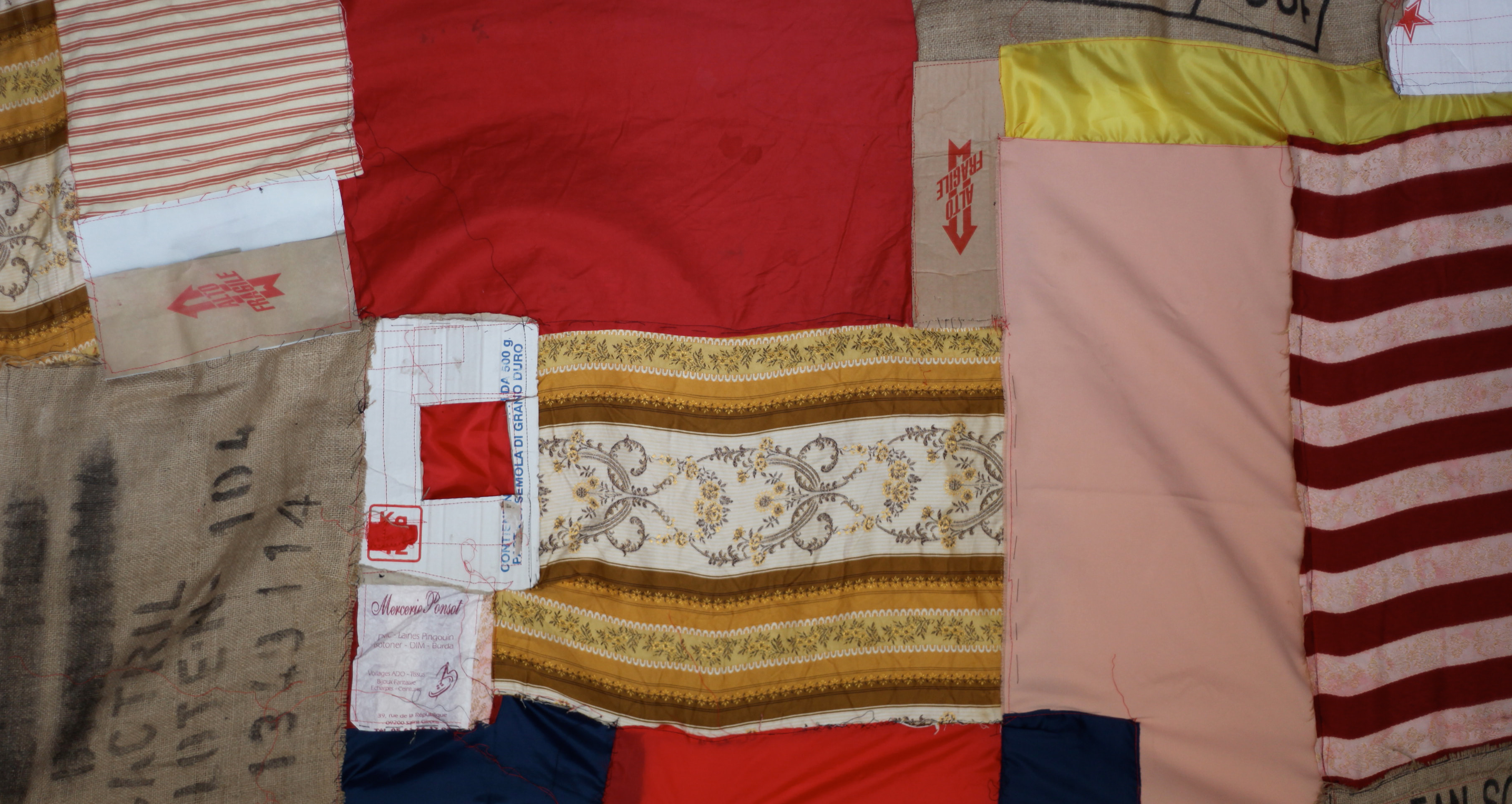 Anna Caione Clean, Sound and New 2012 Reclaimed fabrics and Cardboar
