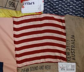 Anna Caione Clean, Sound and New 2012 Reclaimed fabrics and Cardboard