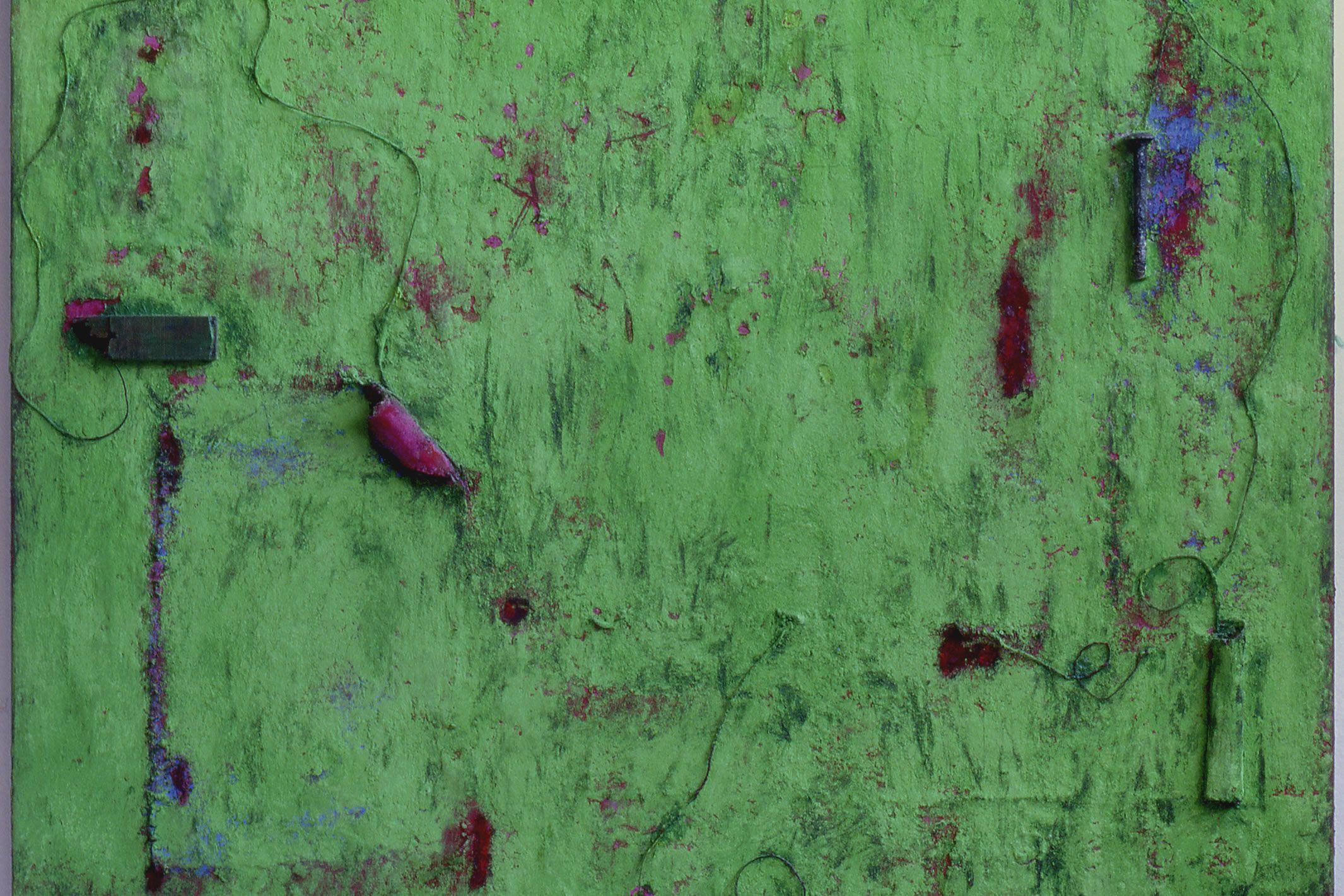 Anna Caione  Primavera  2005, pigment _ mixed media on canvas, 100cm x 120cm