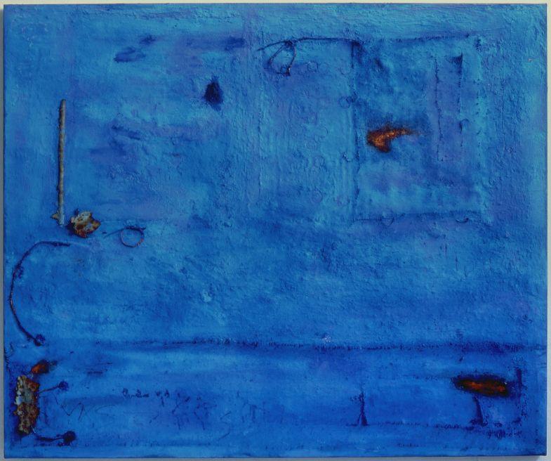 Anna Caione  Aqua Fuoco  2005, pigment _ mixed media on canvas, 100cm x 120cm