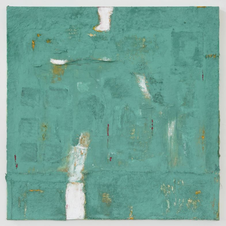 Anna Caione Regrowth, 2018, pigment _ mixed media on canvas, 100cm x 100cm
