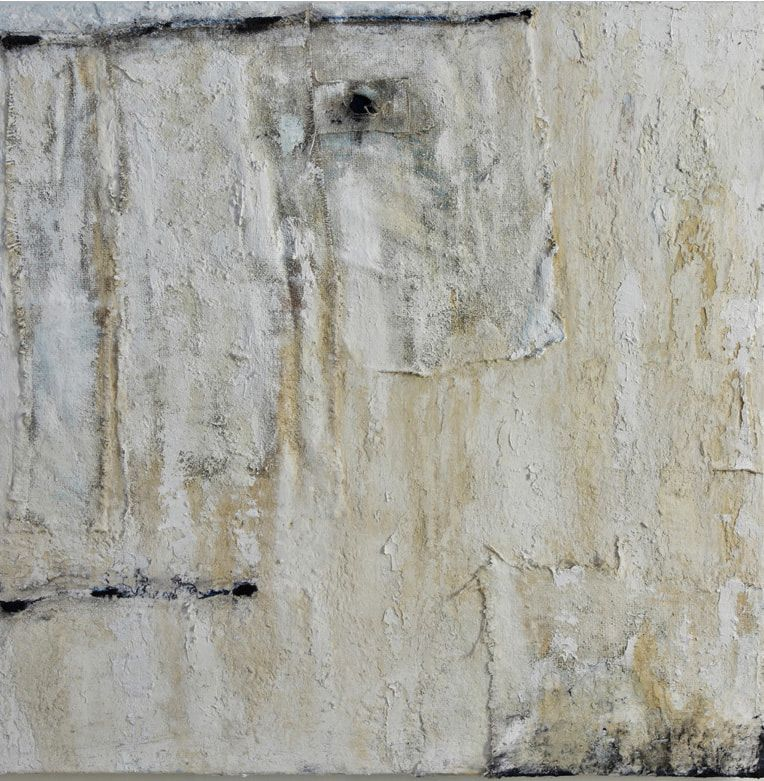 terra Bianca, pigment, mixed media, 2009  100cm x 100cm
