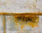 2.DETAIL Anna Caione, Diviso 2018, fabric _ mixed media on canvas, 100cmx100cm